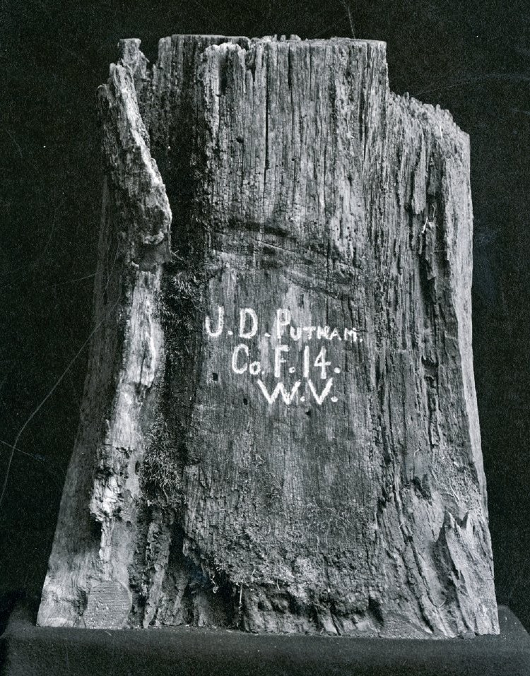 Original Oak Stump Photo Credits : Wisconsin Veterans Museum
